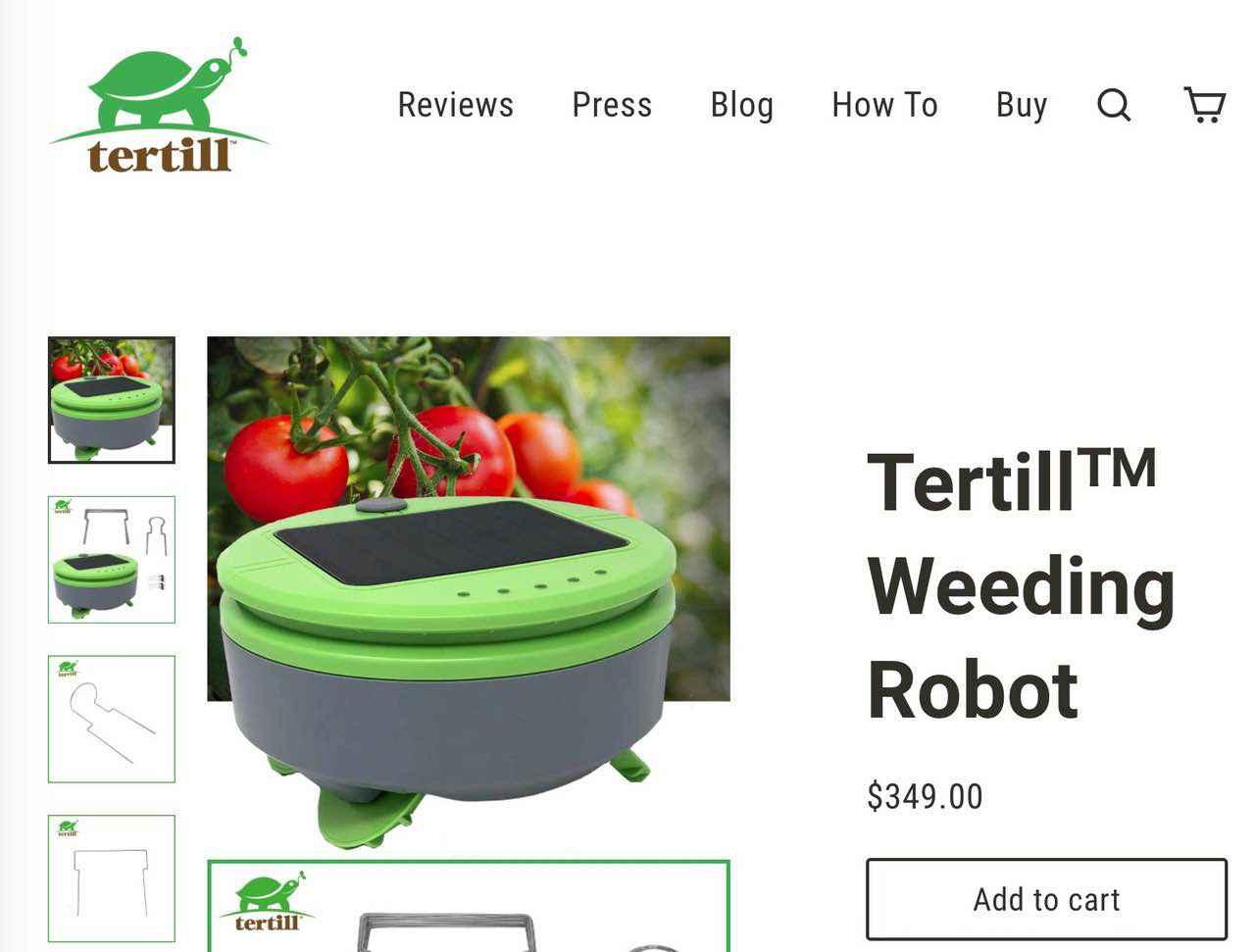 自動で草むしりしてくれる、庭の除草にTertill(テルティル)!